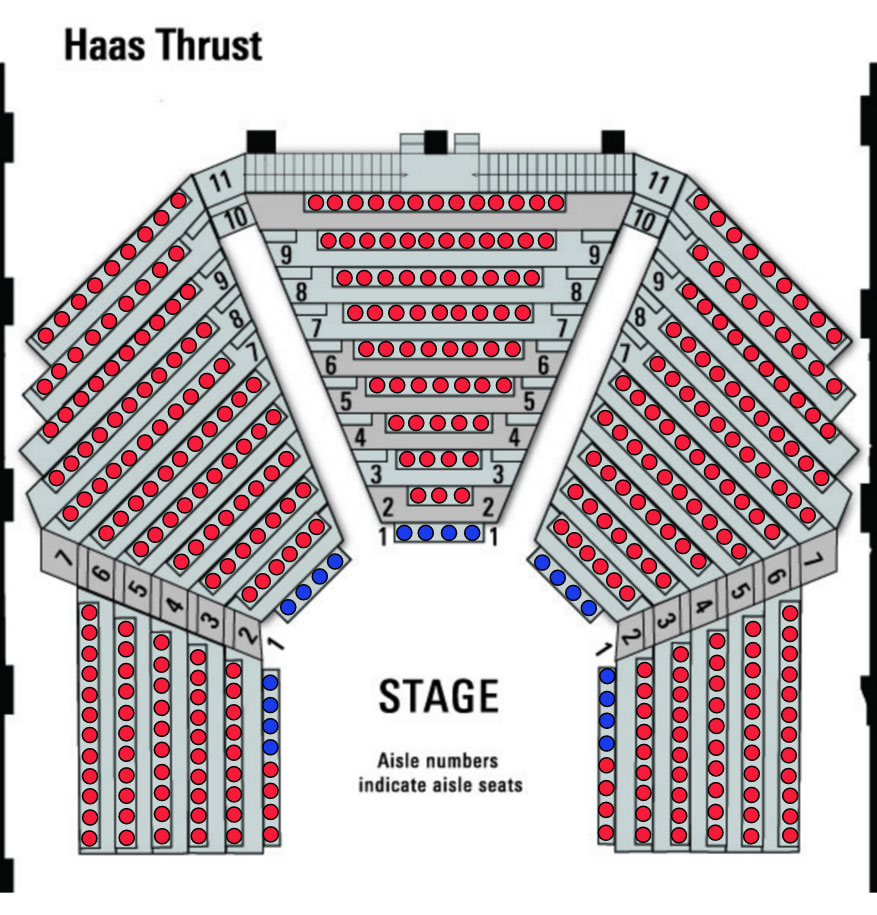 Arden Theatre Seating Chart