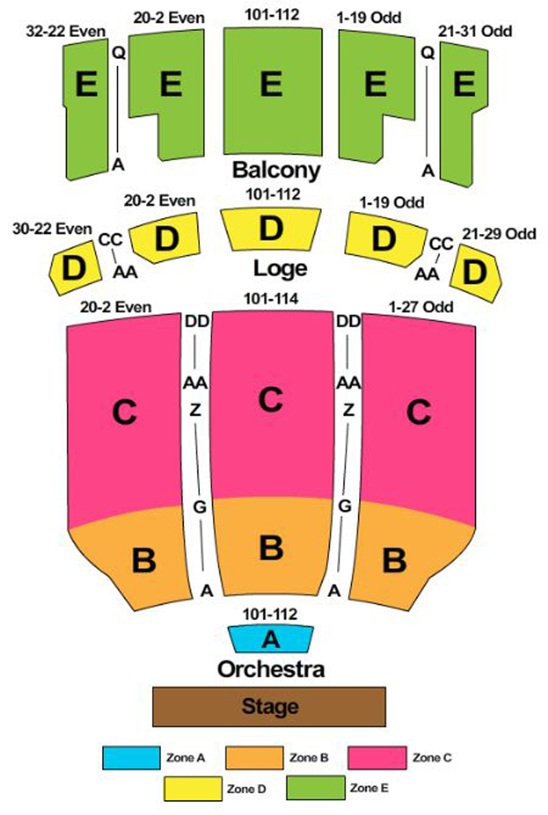 Hershey theatre seating chart theatre in philly