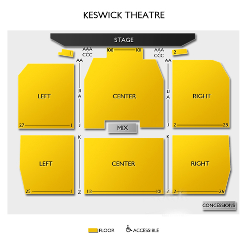 Keswick theatre seating chart theatre in philly