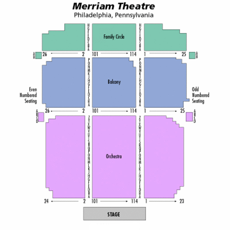 Merriam Theater Seating Chart